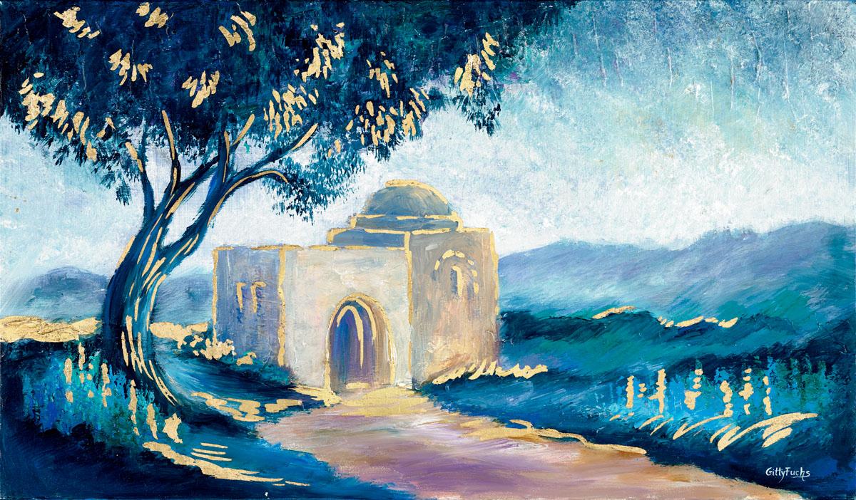 Judaic_Painting_Kever_Rachel_Turqouise_5