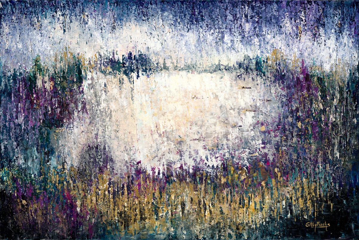 Judaic_art_Jewish_Gitty_Fuchs_The_Kotel_in_Purple_Abstract_Gittyfuchs.com