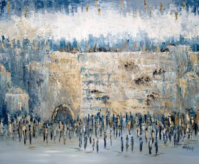Judaica_Judaic_art_Jewish_artist_Israeli_Israel_jerusalem_Painting_GittyFuchs (14) מספר 1 לתצוגה